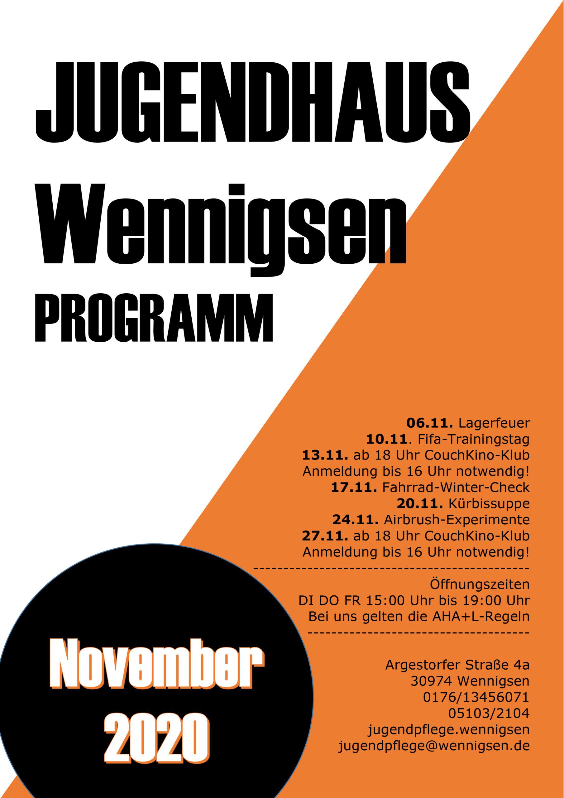 Unser Programm im November