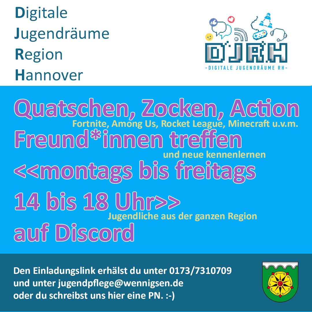 DJRH: Digitale Jugendräume (der) Region Hannover