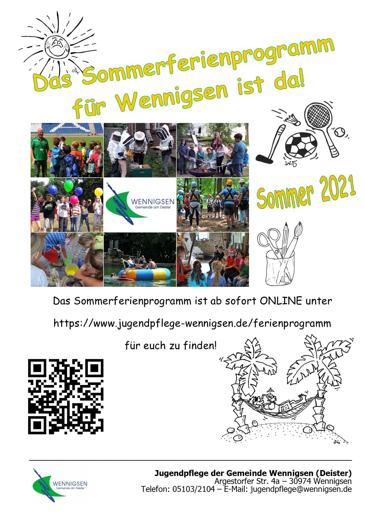 Das Ferienprogramm für Wennigen ist da!